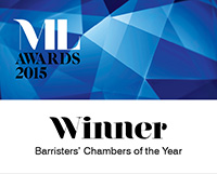 ML Awards 2015 - Winner - Barristers' Chambers of the Year