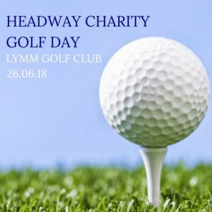 Headway Charity Golf Day golf ball on grass